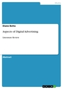 Titre: Aspects of Digital Advertising