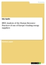 Titel: RWE. Analysis of the Human Resource Practices of one of Europe's leading energy suppliers