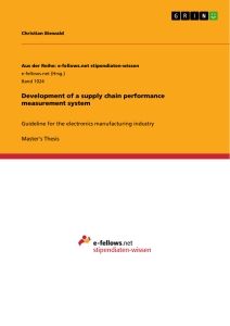 Title: Development of a supply chain performance measurement system