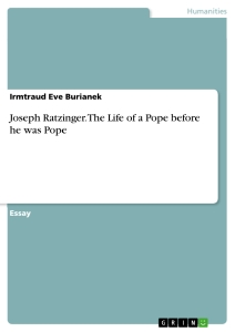 Title: Joseph Ratzinger. The Life of a Pope before he was Pope