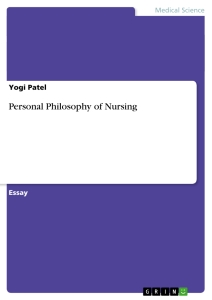 Title: Personal Philosophy of Nursing