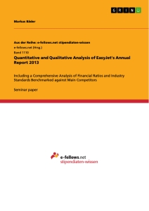Title: Quantitative and Qualitative Analysis of EasyJet's Annual Report 2013