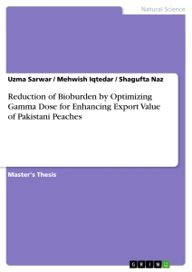 Titel: Reduction of Bioburden by Optimizing Gamma Dose for Enhancing Export Value of Pakistani Peaches