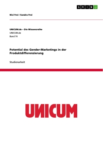Titel: Potential des Gender-Marketings in der Produktdifferenzierung