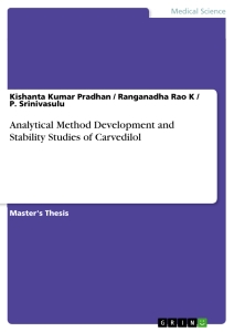 Title: Analytical Method Development and Stability Studies of Carvedilol