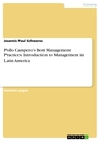 Title: Pollo Campero's Best Management Practices. Introduction to Management in Latin America