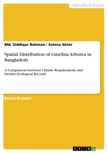 Title: Spatial Distribution of Gmelina Arborea in Bangladesh