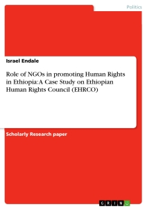 Titel: Role of NGOs in promoting Human Rights in Ethiopia: A Case Study on Ethiopian Human Rights Council (EHRCO)
