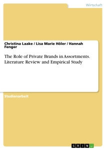 Titel: The Role of Private Brands in Assortments. Literature Review and Empirical Study