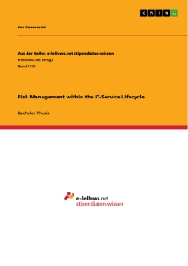 Titel: Risk Management within the IT-Service Lifecycle