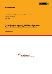 Title: Finite-Elemente-Methode (FEM) Berechnung der Rissausbreitung mittels Phasenfeldmethode