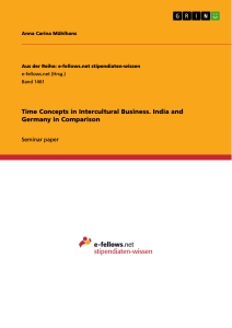 Title: Time Concepts in Intercultural Business. India and Germany in Comparison