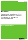 Title: Transactions in Bionic Patents, Vol. 10: Polstoffe. Fluidmechanisch wirksames Fasergewirke mit heterogenem, anisotropem Faserflor