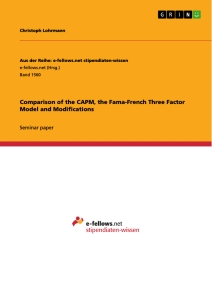 Titel: Comparison of the CAPM, the Fama-French Three Factor Model and Modifications
