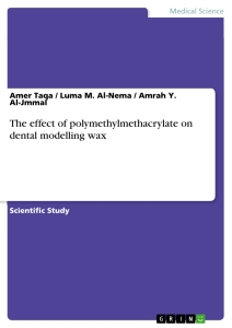 Title: The effect of polymethylmethacrylate on dental modelling wax