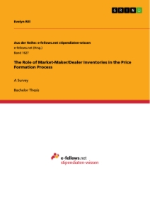 Title: The Role of Market-Maker/Dealer Inventories in the Price Formation Process