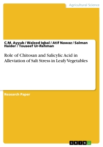 Title: Role of Chitosan and Salicylic Acid in Alleviation of Salt Stress in Leafy Vegetables
