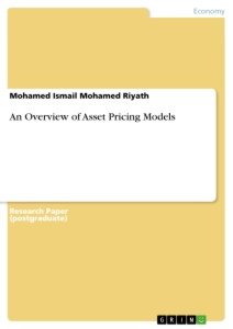 Title: An Overview of Asset Pricing Models