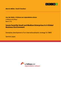 Title: Issues Faced By Small and Medium Enterprises In A Global Business Environment