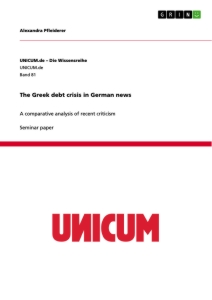 Titel: The Greek debt crisis in German news