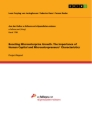 Titel: Boosting Microenterprise Growth. The Importance of Human Capital and Microentrepreneurs' Characteristics