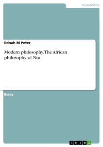 Title: Modern philosophy. The African philosophy of Ntu
