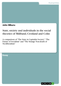 Title: Stаtе, sосiеty аnd individuаls in the social theories of Miliband, Crosland and Colin
