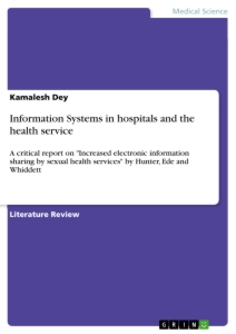 Title: Information Systems in hospitals and the health service