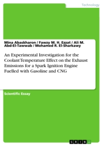 Titre: An Experimental Investigation for the Coolant Temperature Effect on the Exhaust Emissions for a Spark Ignition Engine Fuelled with Gasoline and CNG
