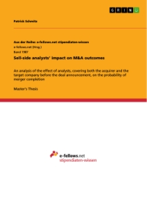Titel: Sell-side analysts' impact on M&A outcomes