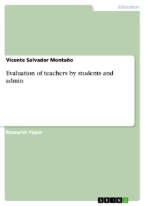 Title: Evaluation of teachers by students and admin