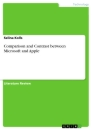 Title: Comparison and Contrast between Microsoft and Apple