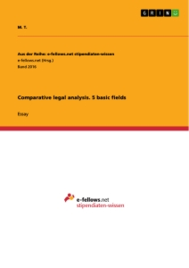 Title: Comparative legal analysis. 5 basic fields