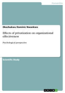 Title: Effects of privatization on organizational effectiveness