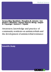 Title: Awareness, knowledge and practice of community residents on antimicrobials and the development of antimicrobial resistance