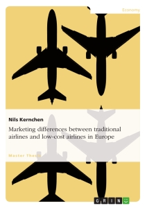 Title: Marketing differences between traditional airlines and low-cost airlines in Europe