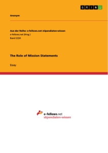 Title: The Role of Mission Statements