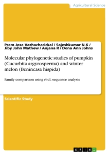 Title: Molecular phylogenetic studies of pumpkin (Cucurbita argyrosperma) and winter melon (Benincasa hispida)