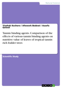 Title: Tannin binding agents. Comparison of the effects of various tannin binding agents on nutritive value of leaves of tropical tannin rich fodder trees