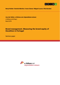 Title: Brand management. Measuring the brand equity of Decathlon in Portugal