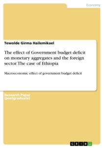 Title: The effect of Government budget deficit on monetary aggregates and the foreign sector. The case of Ethiopia