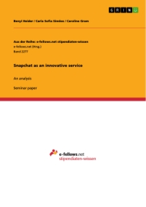 Title: Snapchat as an innovative service