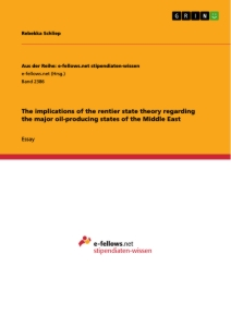 Title: The implications of the rentier state theory regarding the major oil-producing states of the Middle East