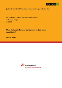 Title: What factors influence consumers to buy meat substitutes?