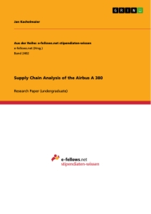 Titel: Supply Chain Analysis of the Airbus A 380