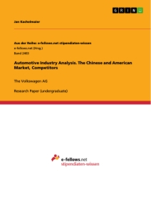 Title: Automotive Industry Analysis. The Chinese and American Market, Competitors