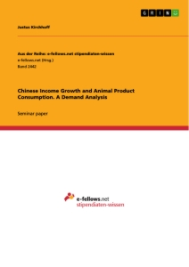 Title: Chinese Income Growth and Animal Product Consumption. A Demand Analysis