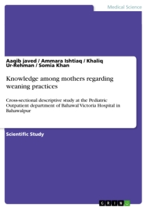 Title: Knowledge among mothers regarding weaning practices