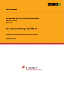 Titel: Fair Value-Ermittlung nach IFRS 13