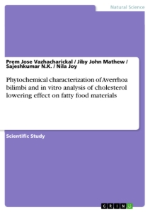 Title: Phytochemical characterization of Averrhoa bilimbi and in vitro analysis of cholesterol lowering effect on fatty food materials